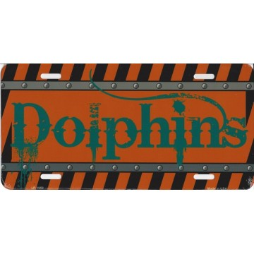 Miami Dolphins Construction License Plate