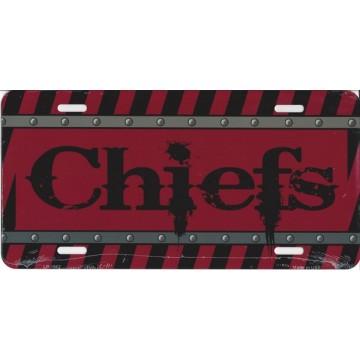 Kansas City Chiefs Construction License Plate