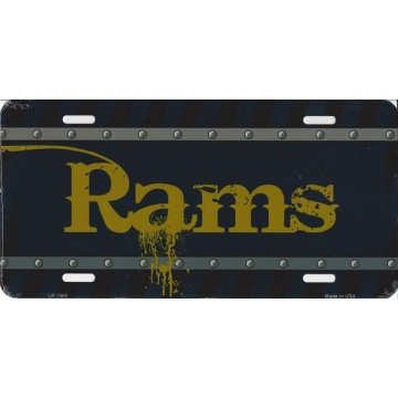 Los Angeles Rams Construction License Plate