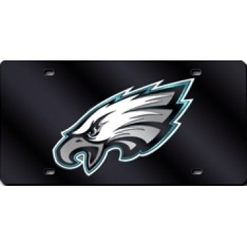 Philadelphia Eagles Black Laser License Plate