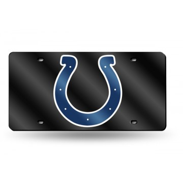Indianapolis Colts Black Laser License Plate