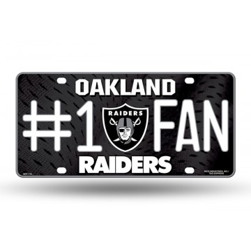 Oakland Raiders #1 Fan License Plate