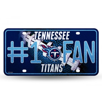Tennessee Titans #1 Fan Glitter License Plate
