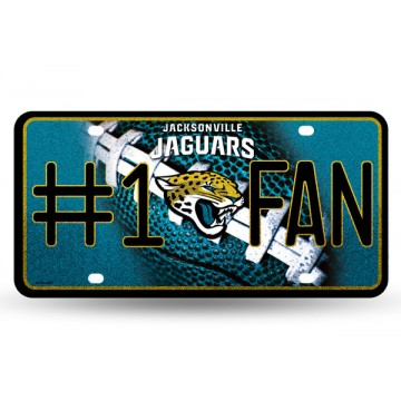 Jacksonville Jaguars #1 Fan Glitter License Plate