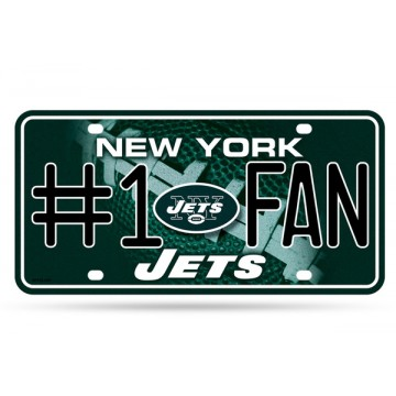New York Jets #1 Fan Glitter License Plate