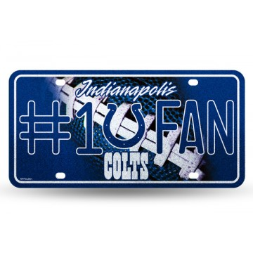 Indianapolis Colts #1 Fan Glitter License Plate