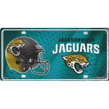 Jacksonville Jaguars Metal License Plate
