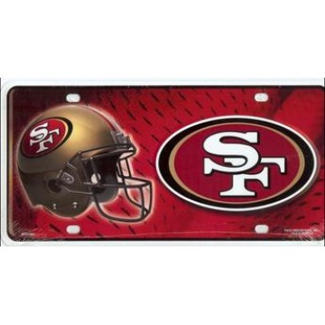 San Francisco 49'ers Metal License Plate