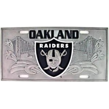 Oakland Raiders - 3D Collector License Plate
