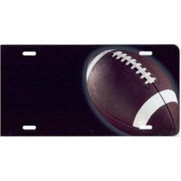 Football Offset Airbrush License Plate
