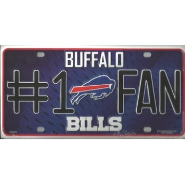 Buffalo Bills 1# Fan License Plate
