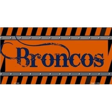 Denver Broncos Construction License Plate