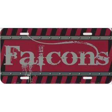 Atlanta Falcons Construction License Plate
