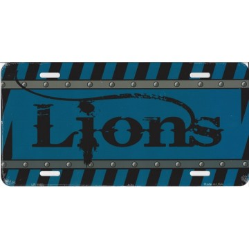 Detroit Lions Construction License Plate