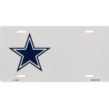 Country Blue Star Silver Offset License Plate