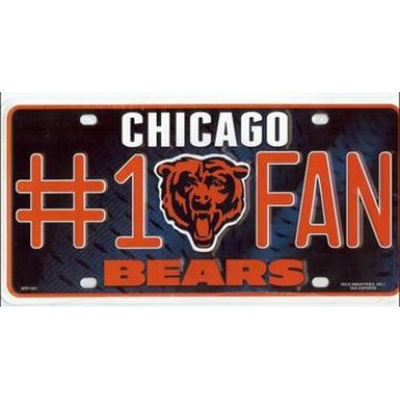 Chicago Bears #1 Fan License Plate
