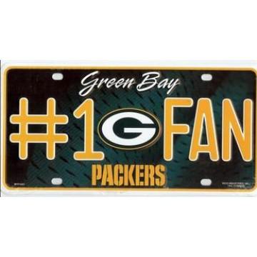 Green Bay Packers #1 Fan License Plate