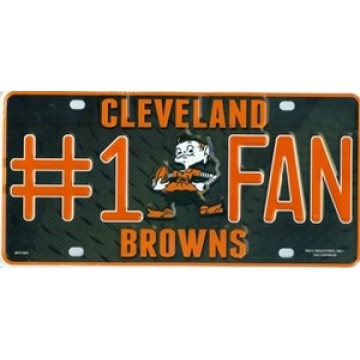 Cleveland Browns #1 Fan License Plate