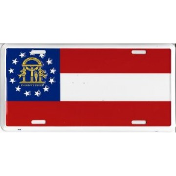 Georgia State Flag License Plate