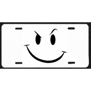 Design It Yourself Smiley Face 'Smirk' Custom License Plate