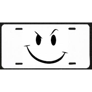 Design It Yourself Smiley Face 'Smirk' Custom License Plate