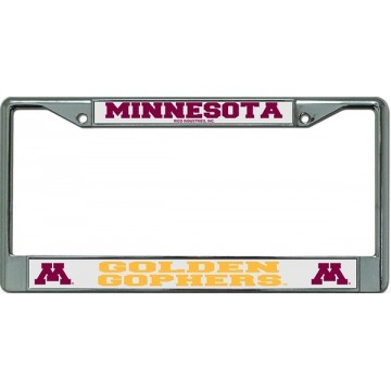 Minnesota Golden Gophers Chrome License Plate Frame