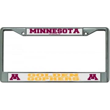 Minnesota Golden Gophers Chrome License Plate Frame