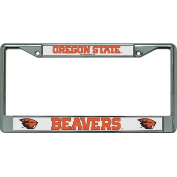 Oregon State Beavers Chrome License Plate Frame