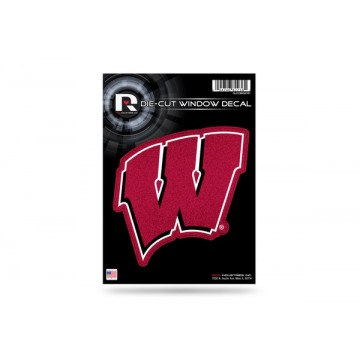 Wisconsin Badgers Glitter Die Cut Vinyl Decal
