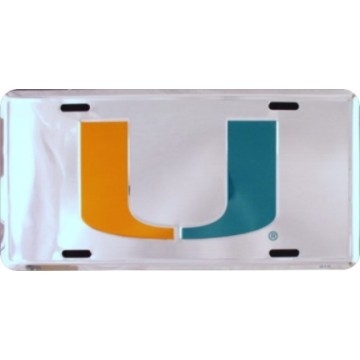 Miami Hurricanes Anodized License Plate