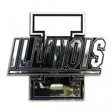 Illinois Fighting Illini NCAA Chrome Auto Emblem