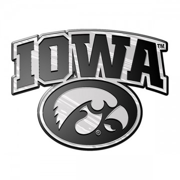 Iowa Hawkeyes NCAA Chrome Auto Emblem