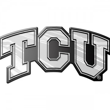 TCU Horned Frogs NCAA Chrome Auto Emblem