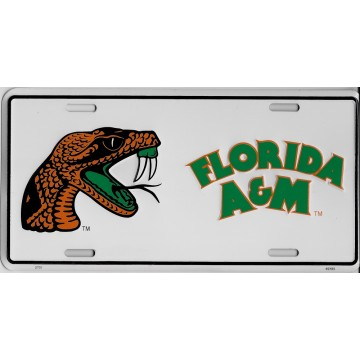 Florida A&M Rattlers Metal License Plate