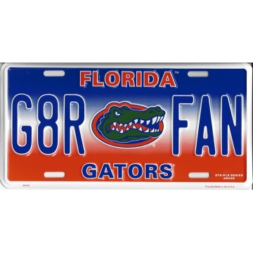 Florida Gators G8R FAN Metal License Plate