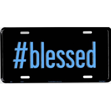 # Blessed Metal License Plate