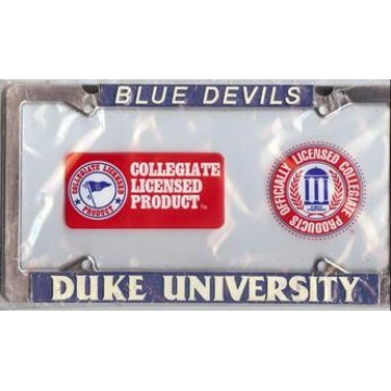 Duke University Chrome License Frame