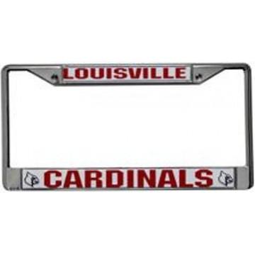 Louisville Cardinals Chrome License Frame