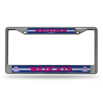 Arizona Wildcats Glitter Chrome License Plate Frame
