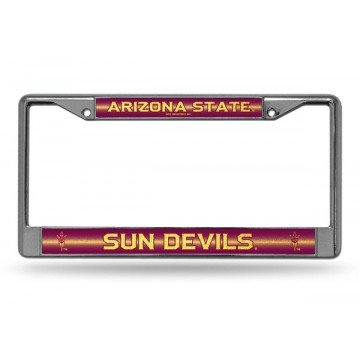 Arizona State Sun Devils Glitter Chrome License Plate Frame