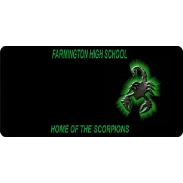 Farmington High School Photo License Plate