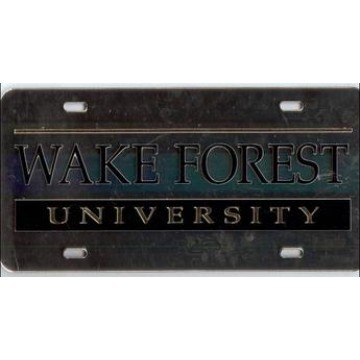 Wake Forest University Laser Team Plate