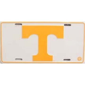Tennessee Vols White License Plate
