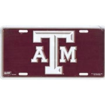 Texas A&M Burgundy License Plate