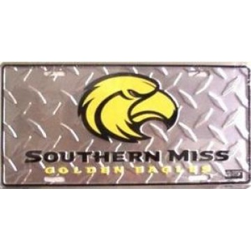 Southern Miss Diamond License Plate