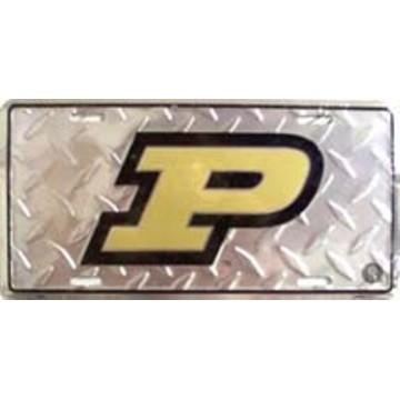 Purdue Boilermakers Diamond License Plate
