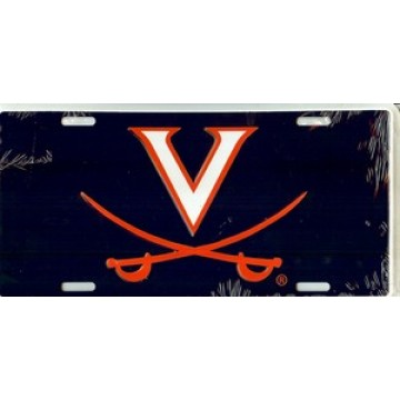 Virginia Cavaliers Blue License Plate