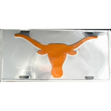 Texas Longhorns Chrome Anodized License Plate