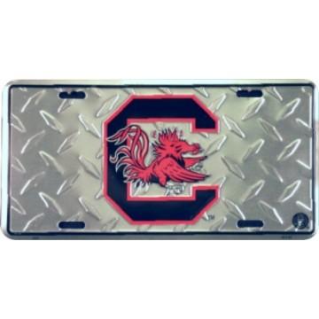 South Carolina Gamecocks Diamond License Plate
