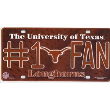 Texas Longhorns #1 Fan License Plate